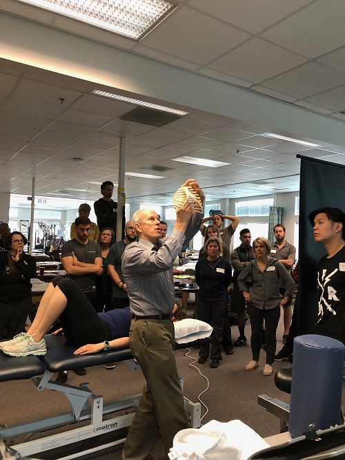 Skip George presenting Postural Respiration for the Postural restoration Institute