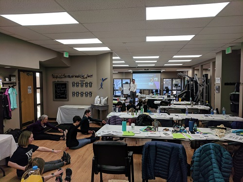James Anderson teaching Postural Respiration in Fort Collins